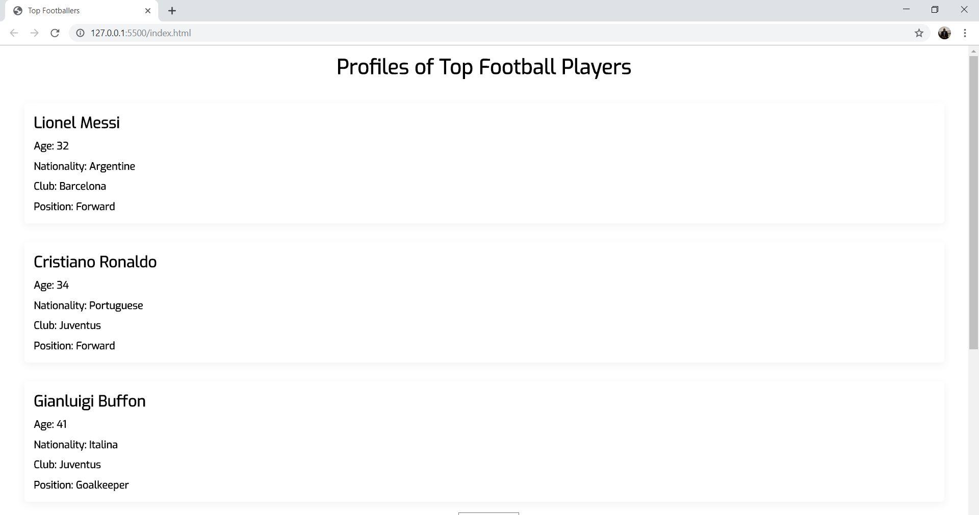 all profiles