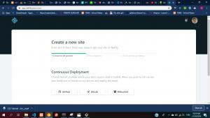 netlify create site