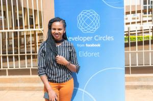 Jacinta at Facebook's Developer Circle event in Eldoret, Kenya