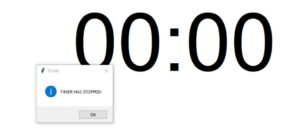 pop up message - countdown timer